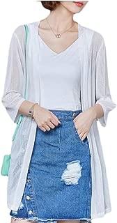 Womens No-Buttons Lightweight Casual Summer Beach Cardigan Jackets