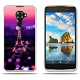 fubaoda Alcatel Idol 4s/Windows/4 Pro Hülle, [Tower Night] Silicon Clear TPU Slim Fit Shockproof Flexible 3D Chic Design Ultra Thin Lightest Easy Grip Durable Flex für Alcatel Idol 4s/Windows/4 Pro