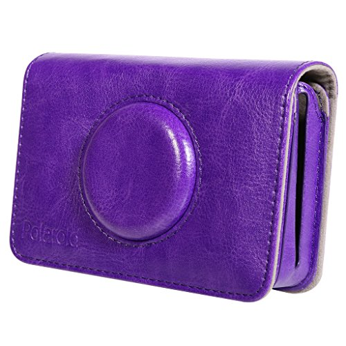 Polaroid Leatherette Case Snap Touch Instant Print Digital Camera – Custom Design for Snug Fit (Purple)