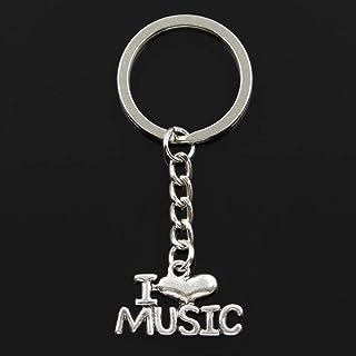 YCEOT Fashion Sleutelhanger 16X28Mm Ik hou van muziek hangers Diy Mannen Sieraden Auto Sleutelhanger Ring Houder Souvenir ...