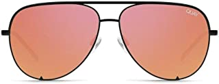 QUAY High Key Aviator Orange Red Mirror Lens Black Metal Frame Sunglfor Men and Women