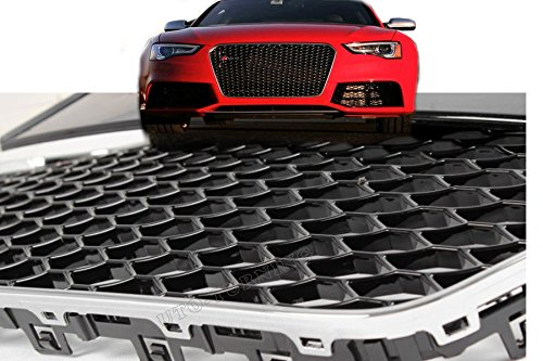 Car-Tuning24 53927992 Tuning A5 Facelift RS 5 S5 2012- Frontgrill Kühlergrill Wabengrill SCHWARZ Chrom
