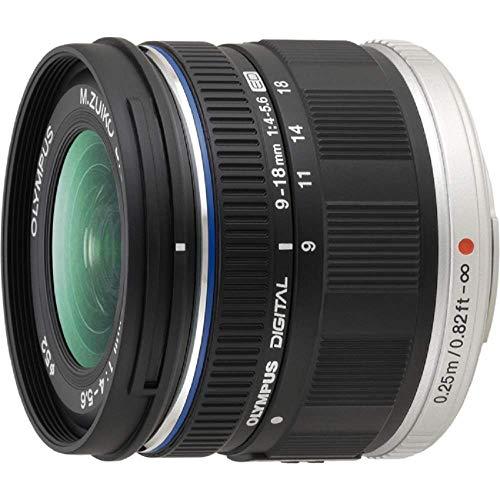Olympus 9-18 mm f/4.0-5.6 ED Zuiko Digital - Objetivo para Cuatro tercios (Distancia Focal 9-18mm, Apertura f/4) Color Negro