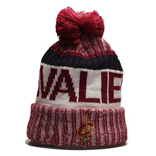 Herren Damen Warm Gestrickte Hüte Rockets/76ers/Cavs/Thunder Basketballkappen Winter Warm Gestricktemütze Outdoor Ski Pompom Cap Beanies Hat