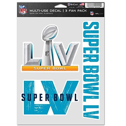 Wincraft NFL Super Bowl LV - Juego de adhesivos multiusos (20 x 15 cm)