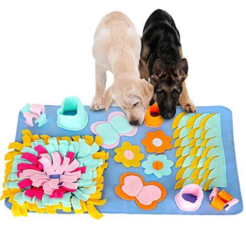 Morfone Schnüffelteppich Hunde, 75cm Waschbar Faltbar Schnüffelrasen, Trainingsmatte für Haustier Hunde Katzen, Riechen Trainieren Schnüffeldecke Dog Puzzle Toys Hund Snuffle Mat Pet Sniffing Pad