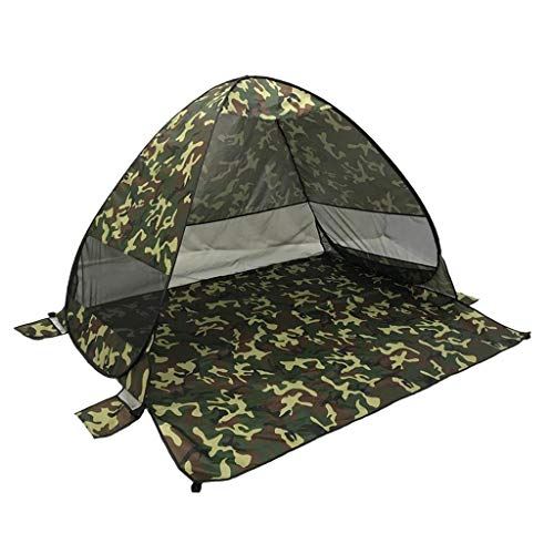 Baoblaze Tente Instantanée Abri d'urgence Kit Canopée Tente Kit de Survie Camping Escalade Randonnée - Camo, 165x200x130cm