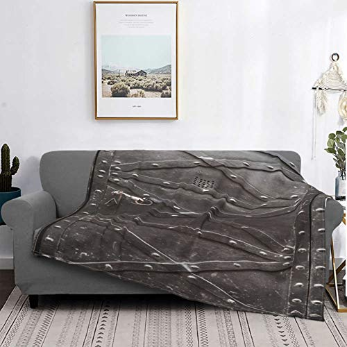 YOLIKA Throw Blanket Lightweight Ultra-Soft Fleece Warm,Old Iron Door Reinforced With Steel Belts And Rivets,Microfiber All Season Living Room/Bedroom/Sofa Couch Bed Flannel Quilt,50' X 40'