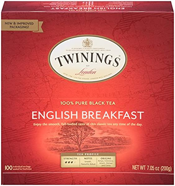 Twinings Of London English Breakfast Black Tea Bags 100 Count