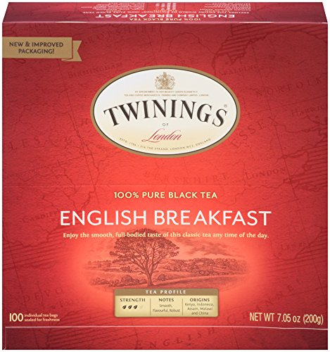 Twinings of London English Breakfast Black Tea Bags 100 Count Pack of 1