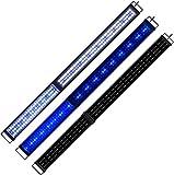 KZKR - Rampa LED para acuario, 150 cm, color blanco y azul, luz nocturna suave, 150 - 180 cm, extensible, enchufe europeo, lámpara para plantas, pescado acuariofilia A213-EU