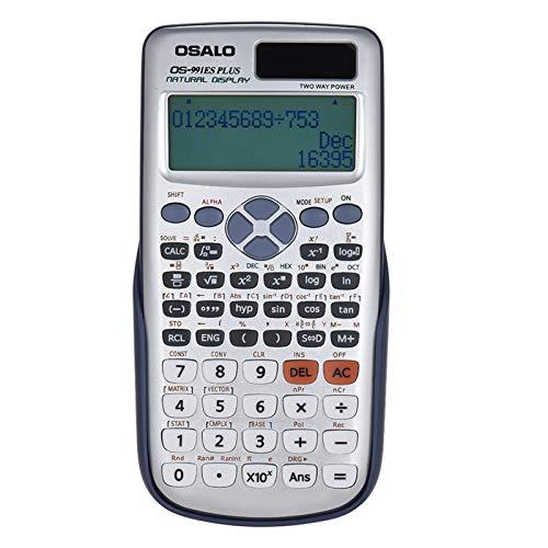 Nishore OS-991ES PLUS Engenharia Calculadora Científica Dupla Fonte de Alimentação Calculadora com Bateria de Botão 417 Funções para o Exame de Entrada da Faculdade de Calculadora Científica