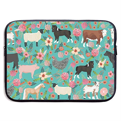 13 Inch A Cute Baby Elephant Floating Slim Laptop Briefcase with Handle Lightweight Travel Laptop Carrying Case Fits MacBook Air Pro