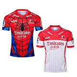 JUNBABY Maillot De Rugby Lions 2019, T-Shirt De Rugby 2020 Hero Edition, Chemise Spiderman-Red-S