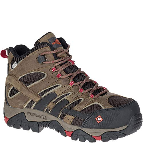 Merrell Moab 2 Vent Mid Waterproof Comp Toe Work Boot 's / - (7.5 M US, Boulder) 2 Plain Toe Slip
