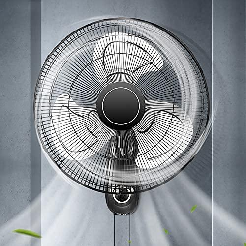 ZHIQ 20'' Ventiladores de Montaje en Pared con Cabezal Oscilante de Alta Velocidad con 3 Aspas de Aluminio para Dormitorio, Oficina, Almacén, Taller, Patio y Sótano