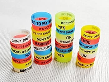 Glow in the Dark Vape Bands - Pack of 30 Vape Rings made with Silicone 21mm