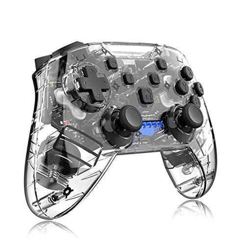 MAGO Mando inalámbrico de juego con doble vibración, diseño ergonómico, joystick de 8 horas de juego para PC para Switch Lite teléfonos Android, tabletas, caja de TV, Gamepad, color negro
