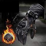 MENUDOWN Motorradhandschuhe 100% wasserdichte Winddichte Winter Warme Vollfinger-Touch Screen...