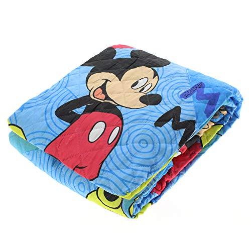 G. & C. Enterprise Trapuntino Disney Topolino Copriletto Trapuntato Mickey Mouse Primaverile Estivo