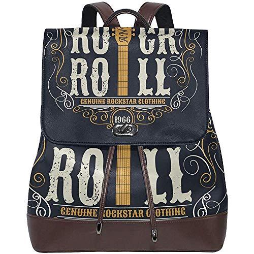 Deirdre Blume Bolso de Camiseta tipográfico Rock Roll Vintage