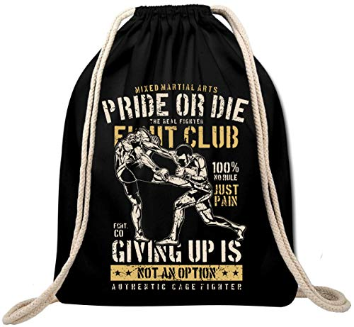 Ekate Pride Or Die Fight Club Mixed Martial Arts MMA UFC Boxing Gym Bag Backpack Gym Bag Backpack