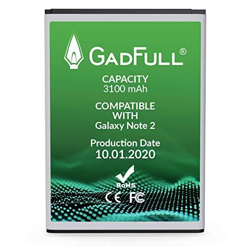 GadFull Batterie compatible avec Samsung Galaxy Note 2 | 2020 Date de Production | correspond à d'origine EB595675LU | Batterie lithium ion compatible avec Note 2 GT-N7100 | GT-N7105