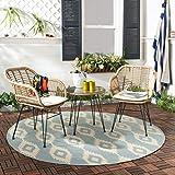 Safavieh Collection Alton - Juego de 3 Piezas para salón, Color marrón Claro y Blanco