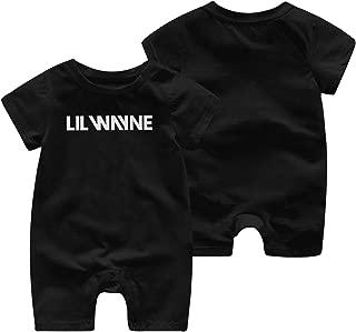 Lil Wayne Logo Newborn Baby Boy Girl Short Sleeve Jumpsuit Bodysuit