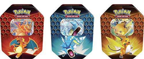 Pokemon - Hidden Fates Tins - 3er Set - Verborgenes Schicksal - Englisch - mit GECO Spielmatte