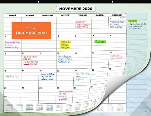Calendario da Muro 2020 2021 – Calendario da Scrivania Mensile, Luglio 2020 fino a Dicembre 2021 – Visualizzazione a un Mese – 33 x 43 cm