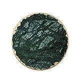 GJRFYJ Cfslp Mármol Almacenamiento Bandeja Verde joyería Pantalla Placa Collar Anillo Pendientes cosmético Organizador de Escritorio softop Sundies decoración Bandeja (Size : Round15.2cm)