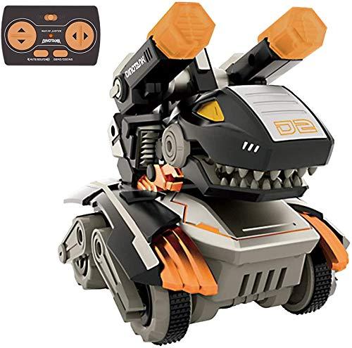 GizmoVine Dinosaurier Spielzeug Auto,Ferngesteuertes Tank RC Monster Stunt Auto Rennauto mit LED Licht und Ton für Kinder Jungen Mädchen 2 3 4 5 6 7 8 Jahren