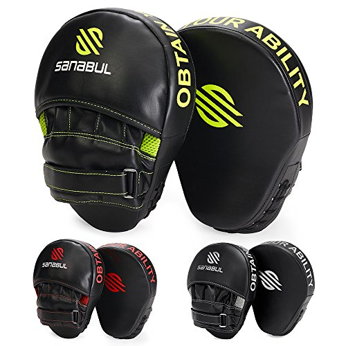 Sanabul Essential Boxing MMA Punching Mitts Black/Green
