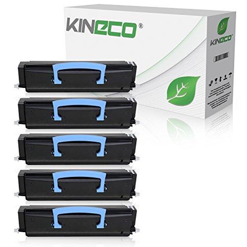 5 Toner kompatibel zu Lexmark X203N, X204N, X200 Series - X203A21G - Schwarz je 2.500 Seiten