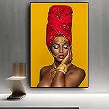 Labios sexy negros y dorados desnudos arte africano mujer pintura al óleo sobre lienzo Cuadros carte...