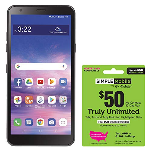 Simple Mobile LG Journey 4G LTE Prepaid Smartphone (Locked) with Free $50 Airtime Bundle