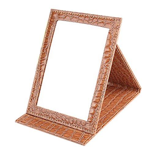 Haute Qualité cuir PU Portable / pliable Miroir pour le maquillage/Voyage, Café