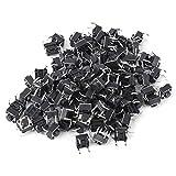 Interruptor de botón táctil momentáneo de 100 piezas Accesorio de interruptor de micro tacto mini 6 x 6 x 5 mm Interruptor táctil táctil Léger à Broche Plástico + hierro para electrodomésticos