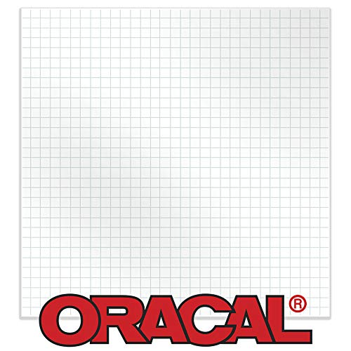 """Oracal 12"""" X 50' Feet Roll Clear Transfer Tape w/Grid for Adhesive Vinyl 