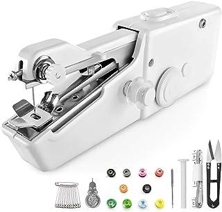 Mini máquina de coser, Mini Máquina de Coser Portátil De Mano Herramientas Portátiles Pantalones De Puño Tejido y práctica...
