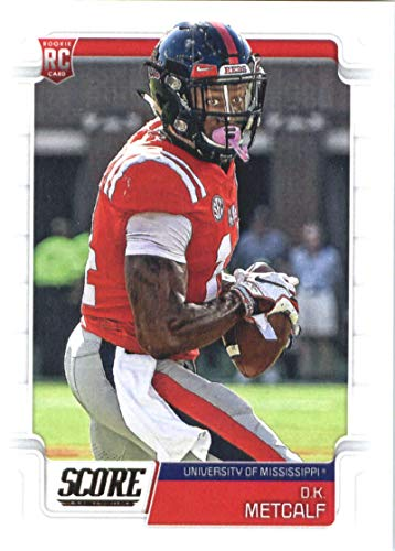 2019 Score Football #352 D.K. Metcalf Ole Miss Rebels Rookie RC Official NFL Trading Card made by Panini