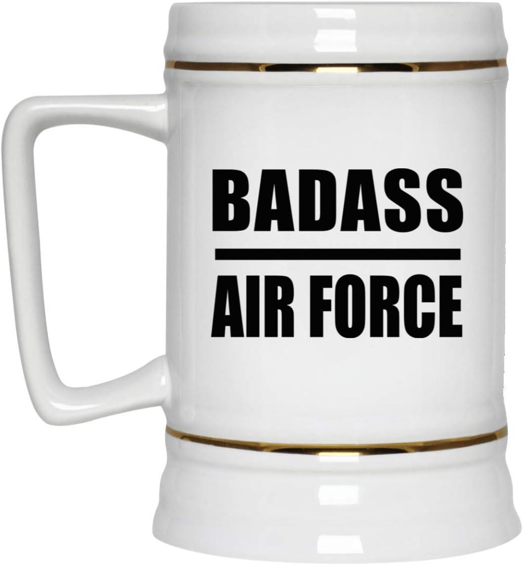 Badass Air Force - 22oz Manufacturer OFFicial shop Attention brand Beer Tankard Mug Bar Ceramic Stein Drink