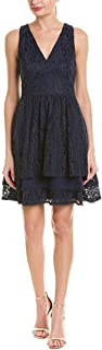 Women's Sleeveless Lace Fit and Flare Dress