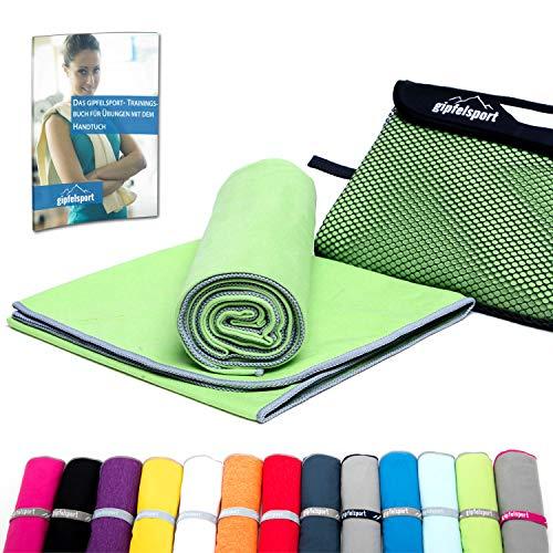 Mikrofaser Handtuch Set - Microfaser Handtücher für Sauna, Fitness, Sport I Strandtuch, Sporthandtuch I 1x XS(50x30cm) ohne Tasche I Grün