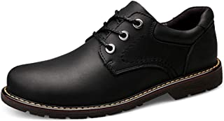 2019 Mens New Lace-up Flats Men's Casual Comfortable Simple Versatile Fashion Oxford Round Toe Outsole Work Shoes