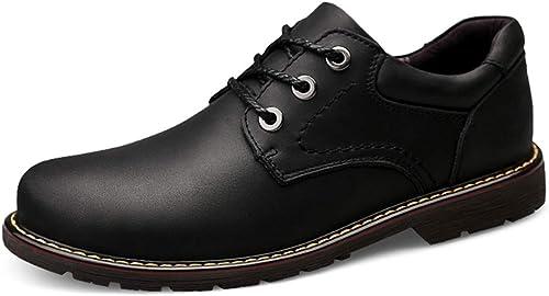 Chaussures de ville décontractées pour hommes Chaussures Chaussures de travail polyvalentes, confortables, à bout rond et à la fois simples à la mode Oxford Chaussures formelles à lacets antidérapantes  peu coûteux