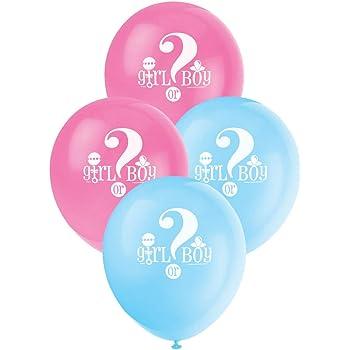 Partito enico 12 pollici palloncini in lattice Sesso Reveal Baby Shower (pacchetto di 8)