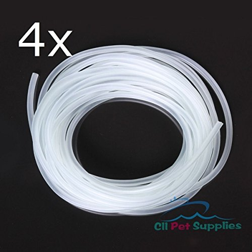 100 ' Aquarium Silicone Air Line Tubing for Fish Tank Air Pump PREMIUM QUALITY