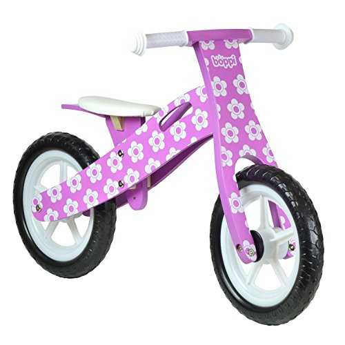 boppi (69 Wooden Balance Bike - Purple Flower